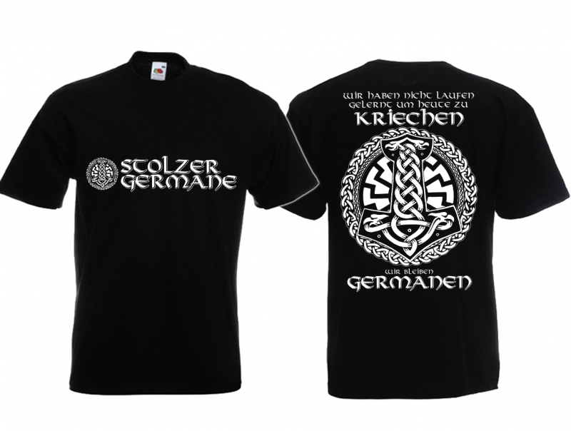 Germane - T-Shirt schwarz