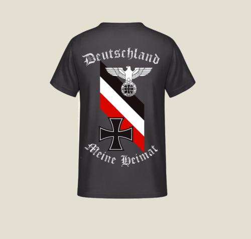 Deutschland, meine Heimat - T-Shirt Rückendruck