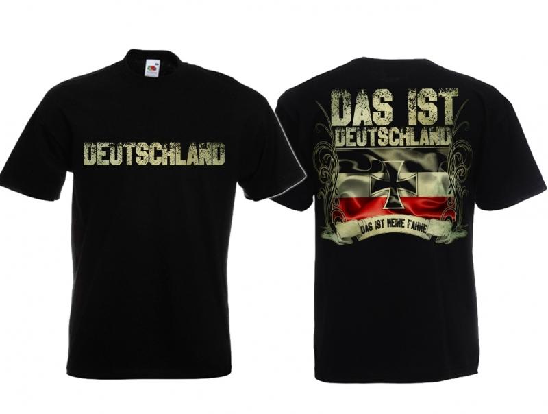 Deutschland - Das ist meine Fahne - T-Shirt schwarz
