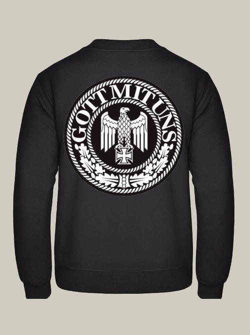 Gott mit uns Reichsadler - Rückendruck Pullover