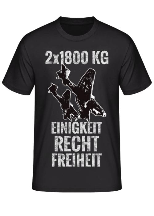 2x1800 KG Einigkeit Recht Freiheit STUKA - T-Shirt