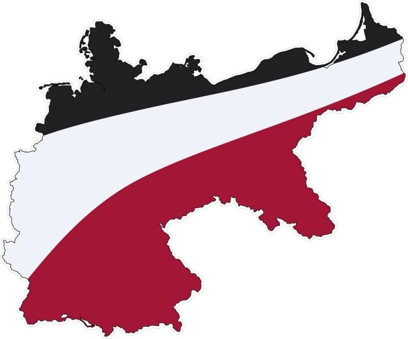 Das Deutsche Reich - Aufkleber(wasserfest)