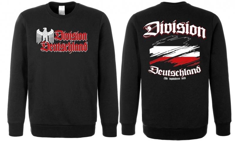 Deutschland Reichsadler Division - Pullover schwarz