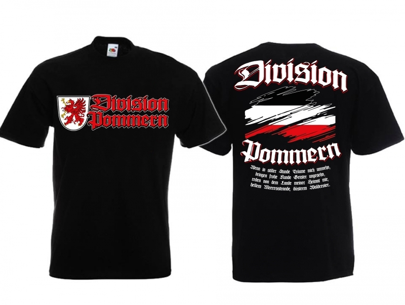 Pommern Division - T-Shirt schwarz