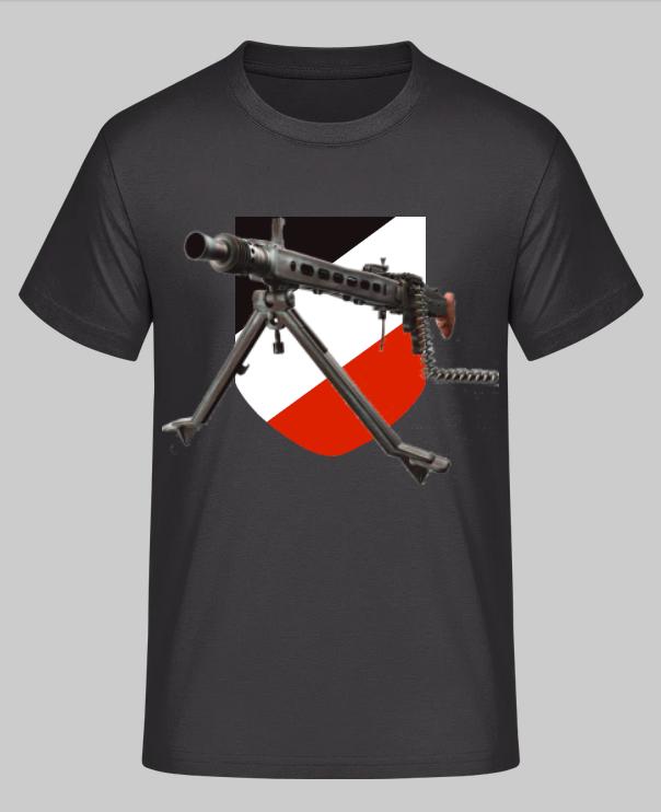 MG 42 Schwarz/Weiss/Rot - T-Shirt