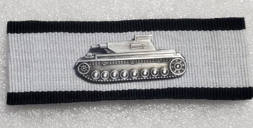 Panzervernichtungsabzeichen in Silber - Aufnäher