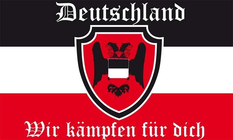 Deutschland - Wir kämpfen für dich - Fahne/Flagge 150x90cm