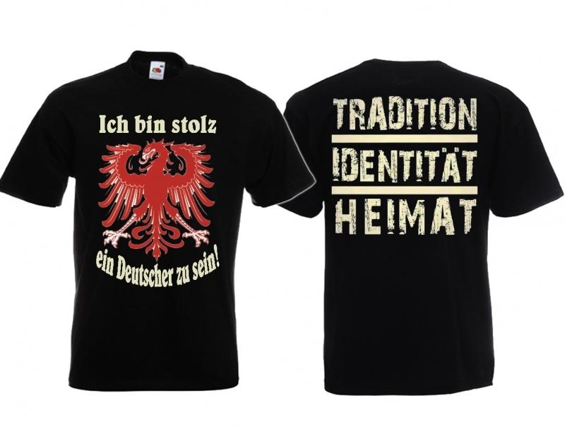 Deutscher - T-Shirt schwarz