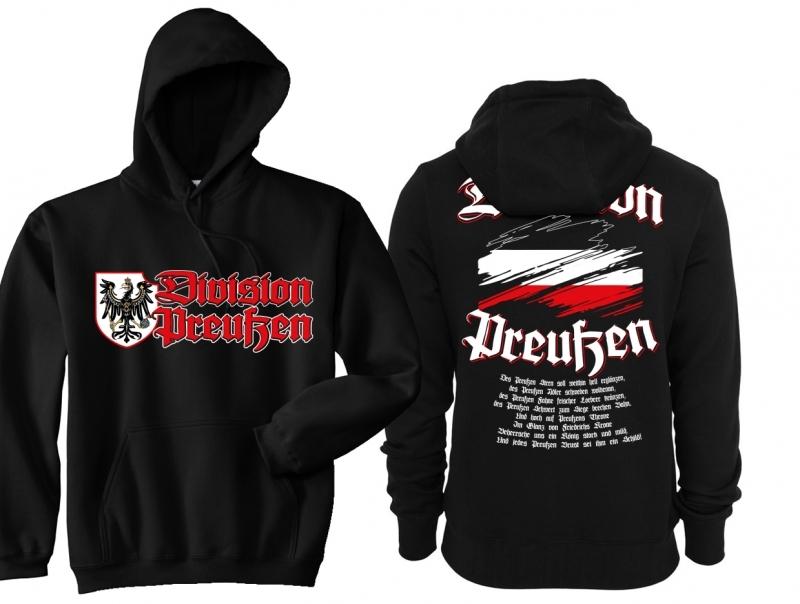 Preußen Division - Kapuzenpullover schwarz