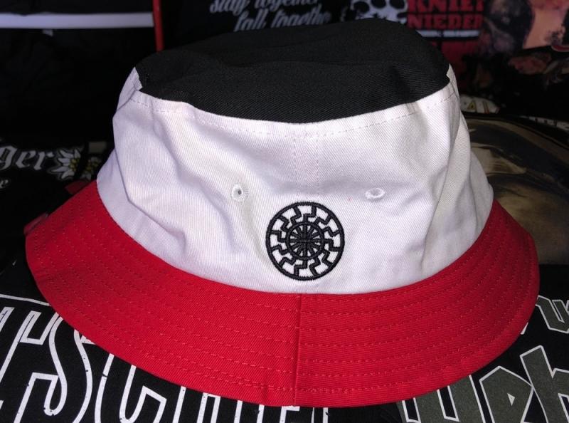 Schwarz/Weiß/Rot - Hut