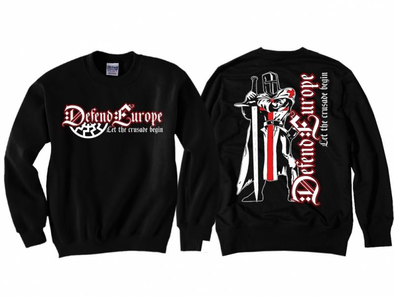Defend Europe - Pullover schwarz