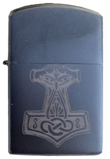 Thors Hammer - Sturmfeuerzeug schwarz