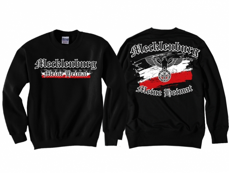 Mecklenburg - Meine Heimat Reichsadler - Pullover schwarz