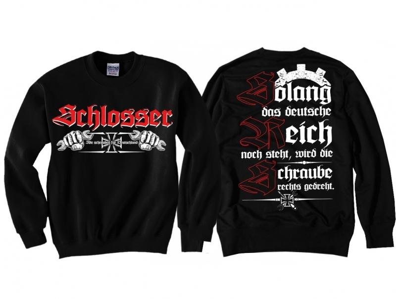 Schlosser - Die Schraube wird rechts gedreht - Pullover schwarz