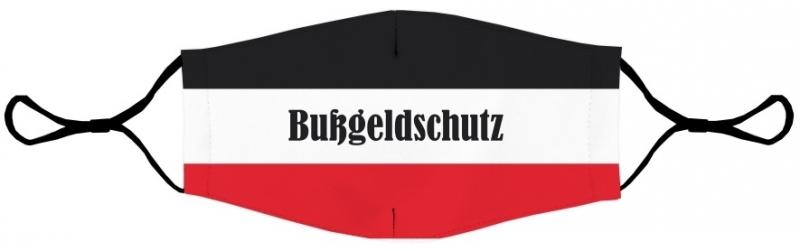 Bußgeldschutz schwarz/weiss/rot - Maske