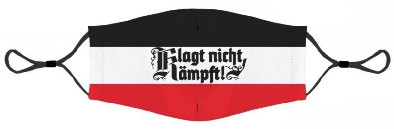 Klagt nicht, kämpft! schwarz/weiss/rot - Maske