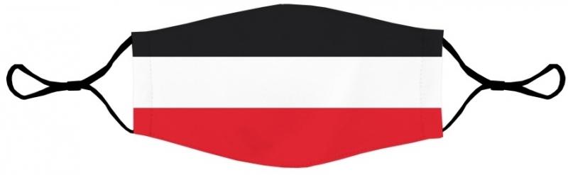Schwarz/Weiss/Rot - Maske