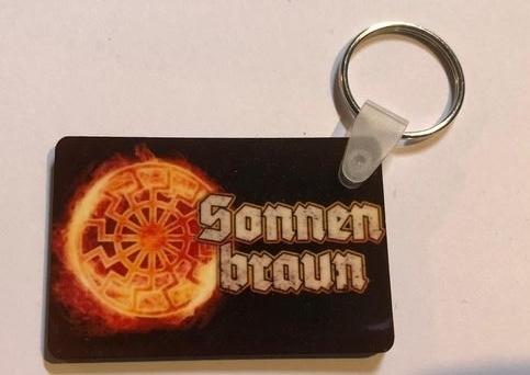Schwarze Sonne brennend - Schlüsselanhänger