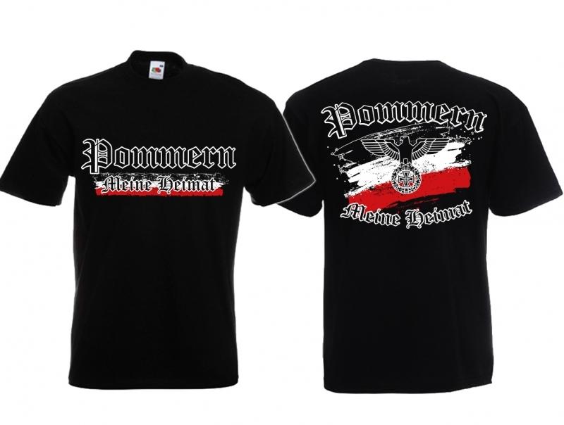 Pommern - Meine Heimat Reichsadler - T-Shirt schwarz