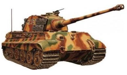 Panzer Tiger II Königstiger - Aufkleber(wasserfest) 17 x 9 cm