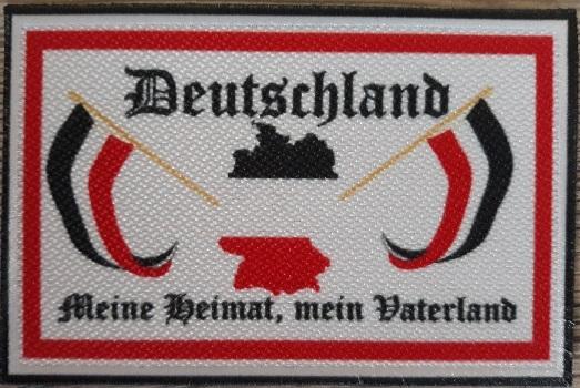 Deutschland - Meine Heimat - Mein Vaterland - Aufnäher