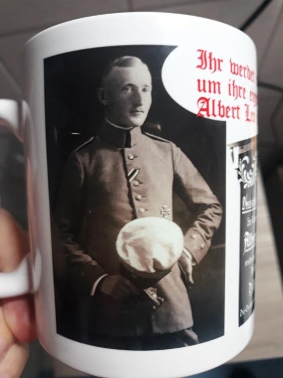 Albert Leo Schlageter - Ihr werdet erleben, wie sie unser Land verschachern - Tasse