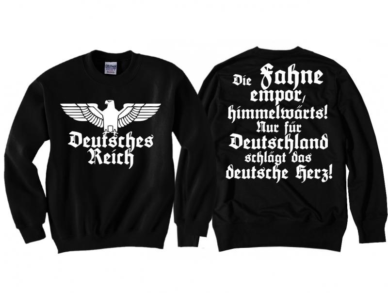 Deutsches Reich - Die Fahne empor - Pullover schwarz