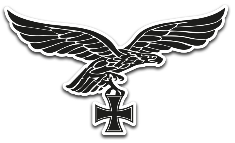 Luftwaffe Adler - Aufkleber(wasserfest)