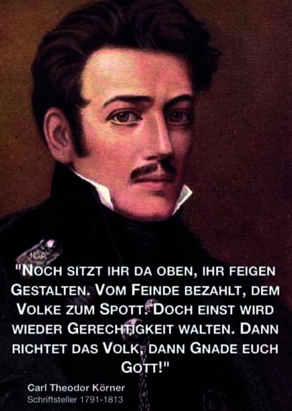 Carl Theoder Körner - Aufkleber