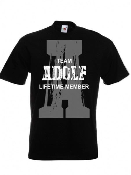 Adolf - Lifetime Member - T-Shirt schwarz