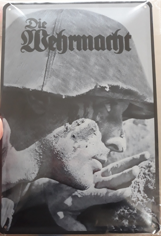 Wehrmacht Soldat - Blechschild