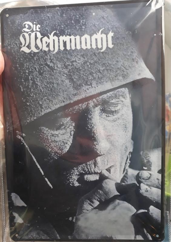 Deutscher Fallschirmjäger - Blechschild