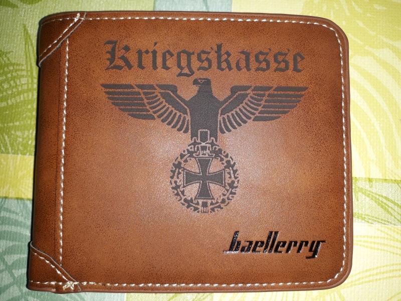 Kriegskasse Reichsadler - Geldbörse braun