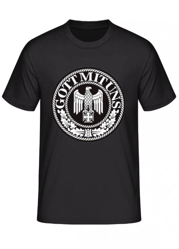 Gott mit uns Reichsadler - T-Shirt