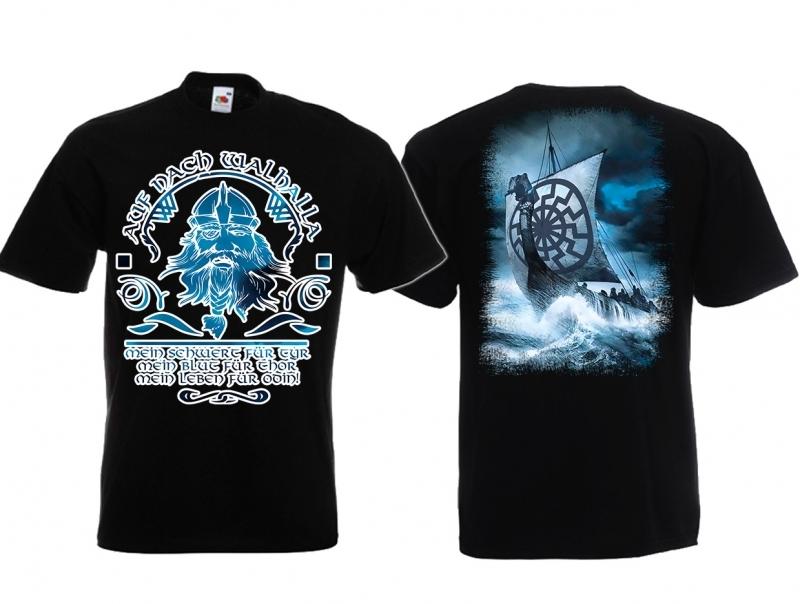 Walhalla Wikinger Schwarze Sonne - T-Shirt schwarz