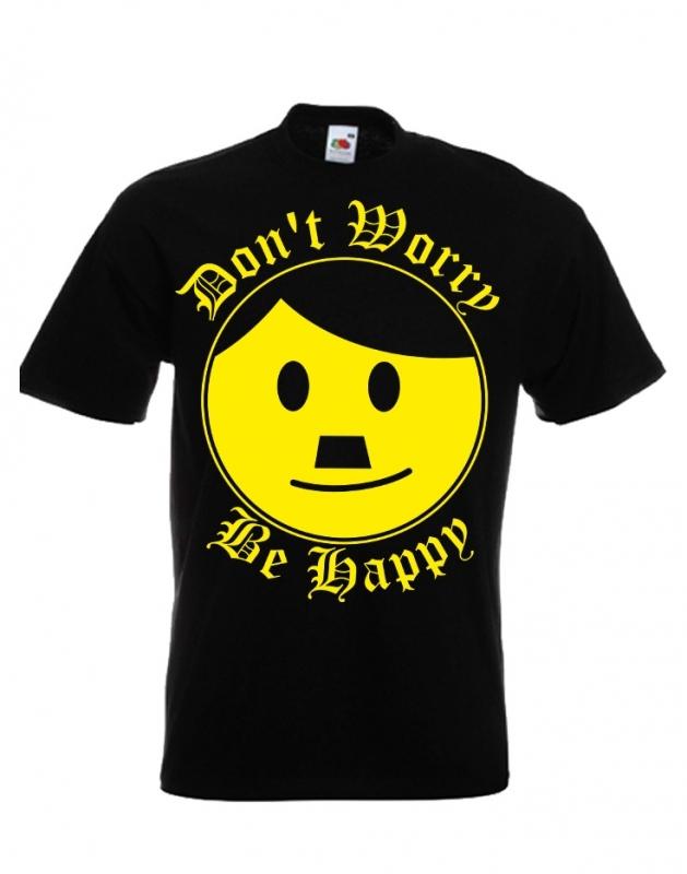 Schnauzer - Dont worry be happy - T-Shirt schwarz