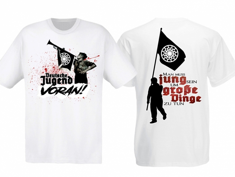 Schwarze Sonne - Deutsche Jugend - T-Shirt weiss