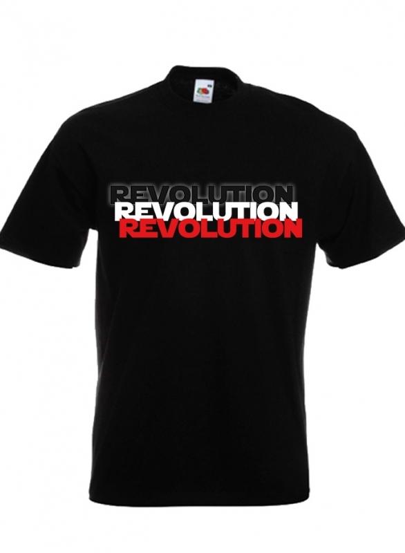 Schwarz/Weiss/Rot Revolution - T-Shirt schwarz