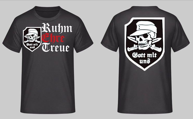 Gott mit uns Totenkopf - Ruhm, Ehre, Treue - T-Shirt