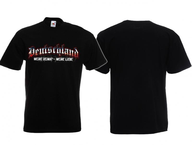 Deutschland - Meine Heimat - Meine Liebe - T-Shirt schwarz