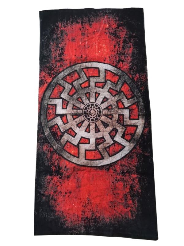 Schwarze Sonne - Black Sun - Badetuch 140 x 70 cm