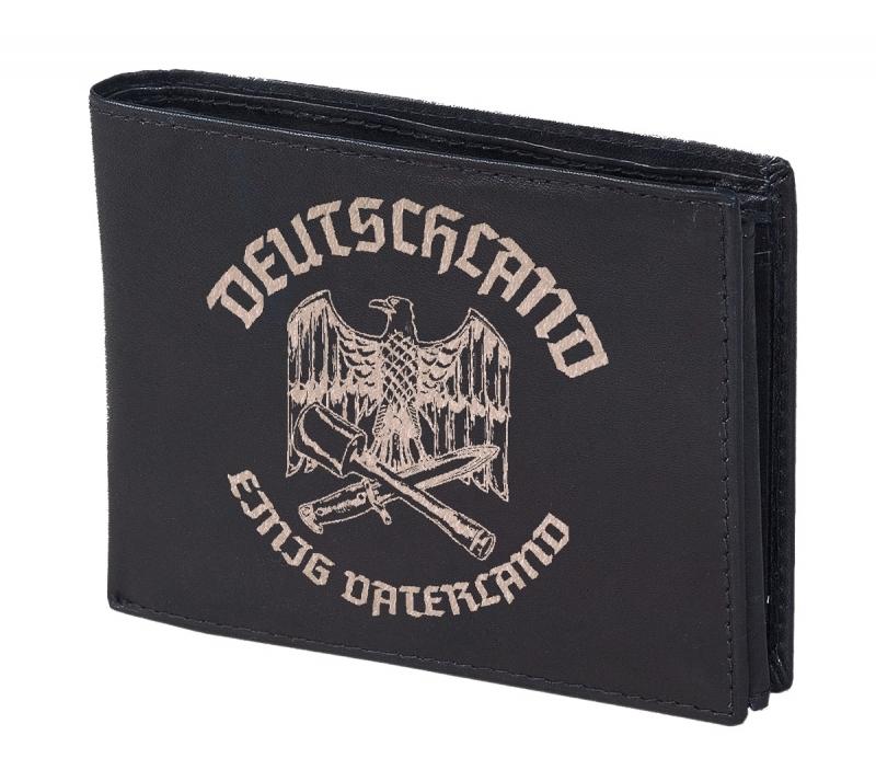 Reichsadler Deutschland - Geldbörse aus Rindleder