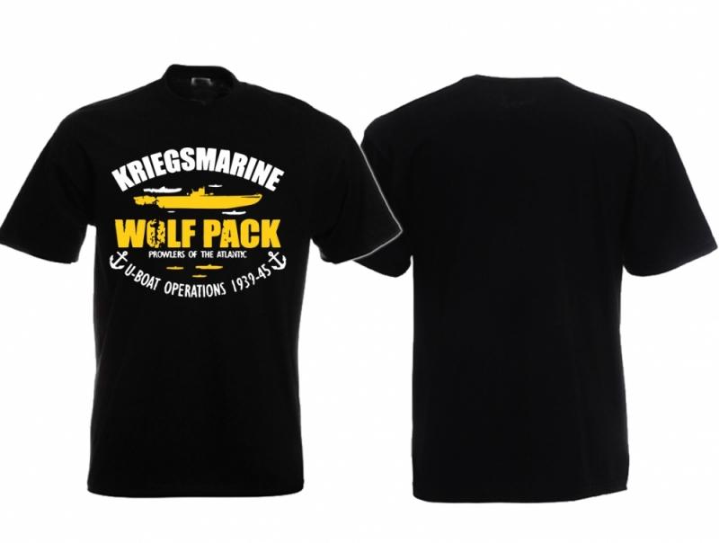 Wolfpack Deutsche U-Boote - T-Shirt schwarz