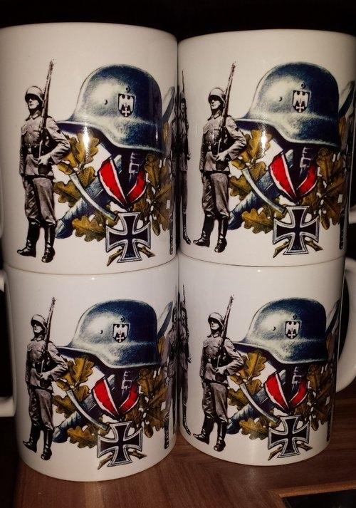 Wehrmacht Helm Soldat - Tasse