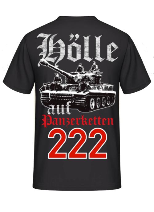 Hölle auf Panzerketten 222 - T-Shirt Rückenmotiv