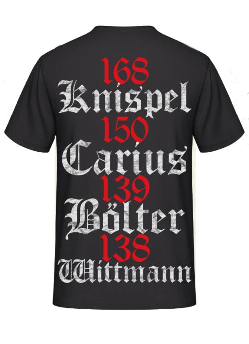 Die 4 erfolgreichsten Panzerasse der Welt - Knispel, Carius, Bölter, Wittmann - T-Shirt