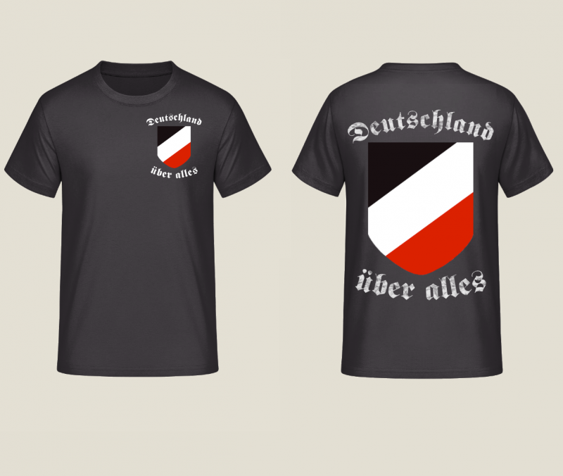 huge selection of 65579 3e906 Deutschland über alles ! Beidseitig bedruckt ! - T-Shirt