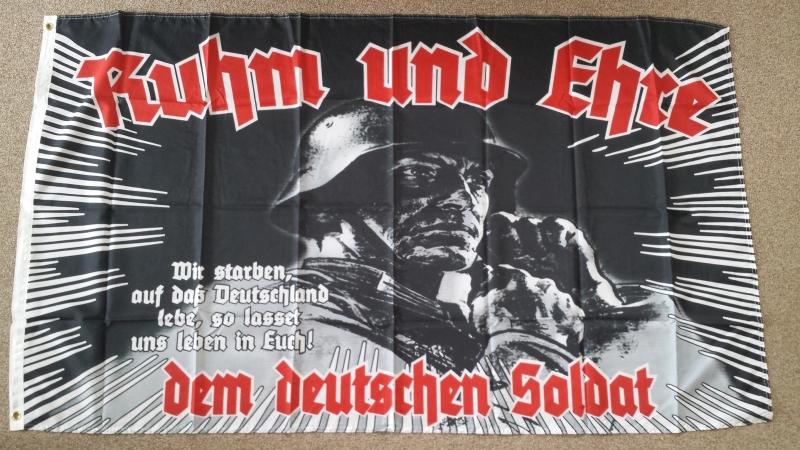 Ruhm und Ehre dem deutschen Soldaten - Fahne 150x90cm
