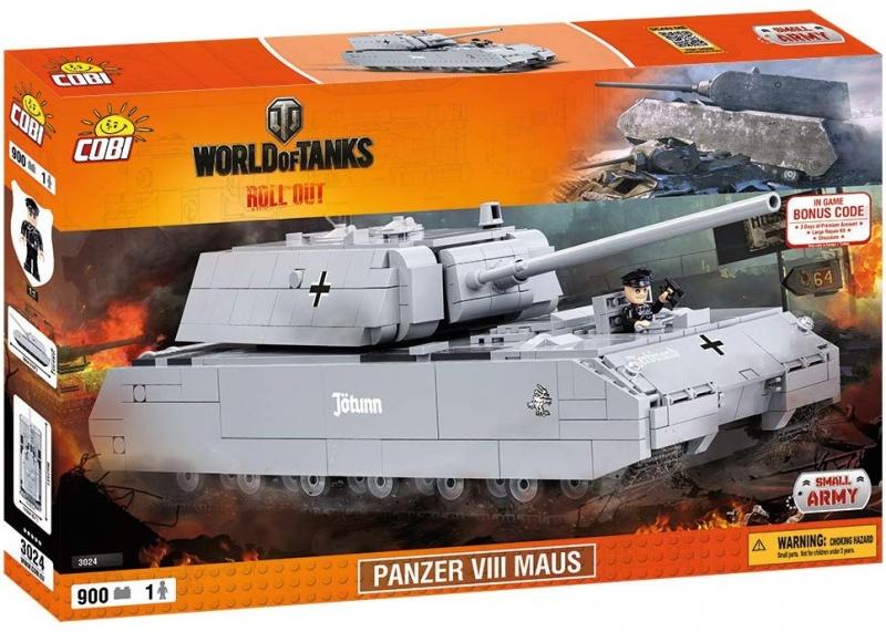 Cobi 3024 Panzerkampfwagen VIII Maus Spielzeug Bausatz(Nur noch wenige da)