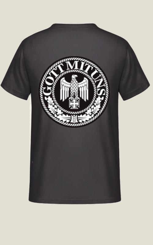 Gott mit uns - T-Shirt Rückendruck